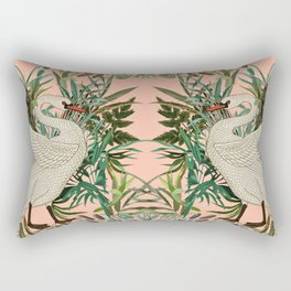 Romantic Swan Rectangular Pillow