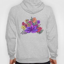 Tropical floral illustration Hoody
