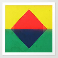 Red Triangle Art Print