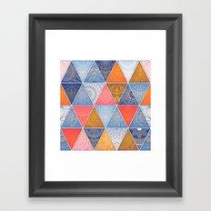 Pattern Mandala Losange Framed Art Print