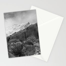 Mountain with Snow and Cloud Stationery Cards