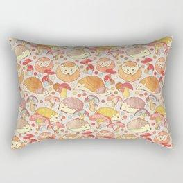 Woodland Hedgehogs - a pattern in soft neutrals  Rectangular Pillow