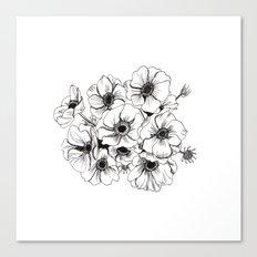 Anemones Bouquet Canvas Print