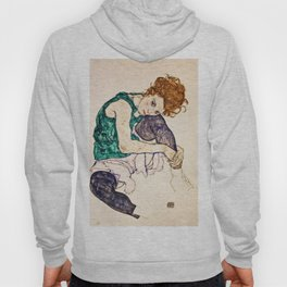Egon Schiele - Seated Woman With Legs Drawn Up Hoody