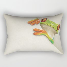 Little Red Eyed Tree Frog Rectangular Pillow