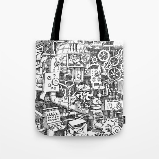 DINNER TIME FOR THE ROBOT Tote Bag