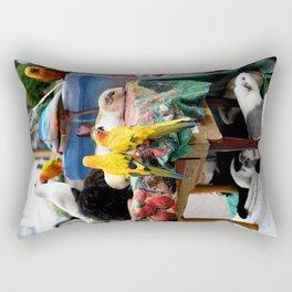 The Great A-meow-ican Melting Pot Rectangular Pillow