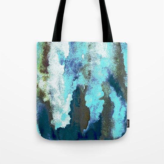 Turquoise And Earth Nebula Tote Bag
