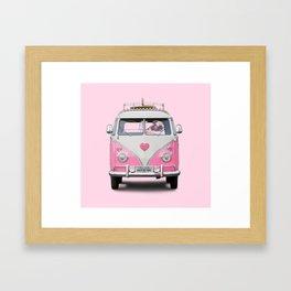Pug Girly Adventure Framed Art Print