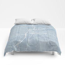 Dayton Map, USA - Slate Comforters