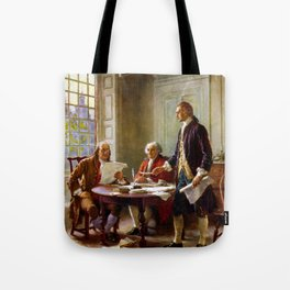 Writing The Declaration of Independence Tote Bag