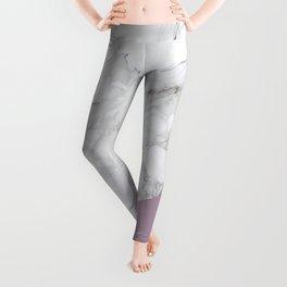 Baesic Purple Marble Leggings