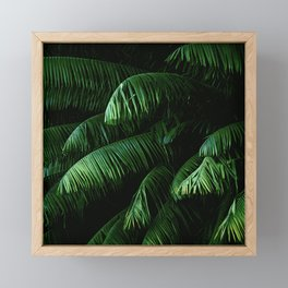Lush green palms Framed Mini Art Print