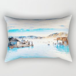 BLUE LAGOON, ICELAND Rectangular Pillow