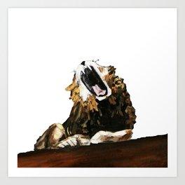 Roar | White Art Print