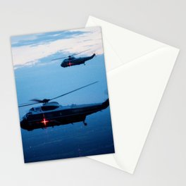 Support Helicopters Fly at Dusk Stationery Cards