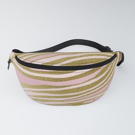 Gold Pink Dancing Lines Fanny Pack