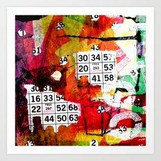 Drag Queen Bingo II Art Print