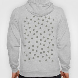 Simply Dots in Retro Gray on White Hoody