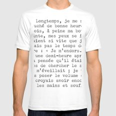 longtemps time temps 4 Mens Fitted Tee White MEDIUM