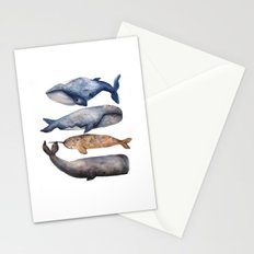 Whales // Fashion Illustration Stationery Cards