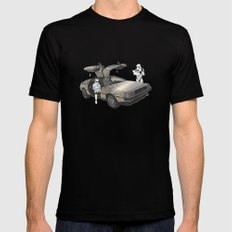 Lost, searching for the DeathStarr _ 2 Stormtrooopers in a DeLorean  LARGE Mens Fitted Tee Black