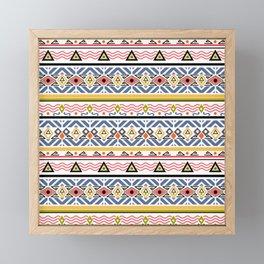 Ethnic ornament , white background Framed Mini Art Print