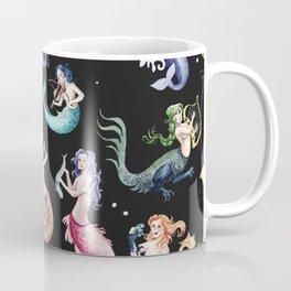 Medieval Mermaid Band - Black Coffee Mug