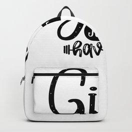 Gym Design Girls Just Wanna Have Guns Backpack