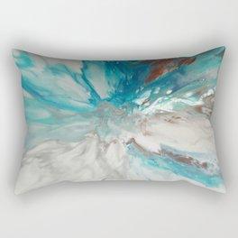 Blown Away - Abstract Acrylic Art by Fluid Nature Rectangular Pillow