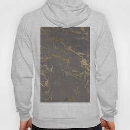 Modern Grey cement concrete gold marble pattern Hoody