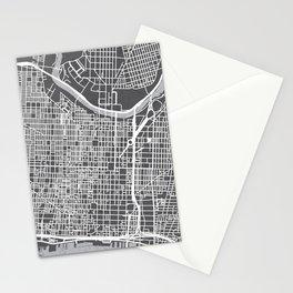 Center City Philadelphia Map Stationery Cards
