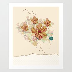 out flowers Art Print