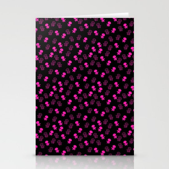 Aliens-Pink Stationery Cards