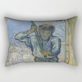 The Thresher (after Millet) Rectangular Pillow