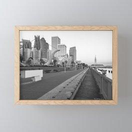 San Francisco Downtown- BW Framed Mini Art Print