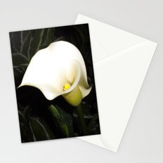 Calla Lily at Night Stationery Cards