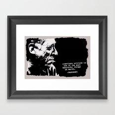 BUKOWSKI - solitude QUOTE Framed Art Print