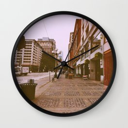 The Streets, They'll Get You Wall Clock