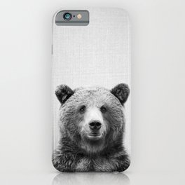 Grizzly Bear - Black & White iPhone Case