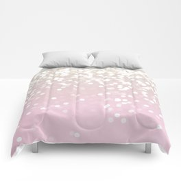 BLUSH GLITTER SPARKLE LIGHTS Comforters