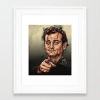 bill murray Framed Art Prints featuring Bill Murray by HATCHER_DRAWS