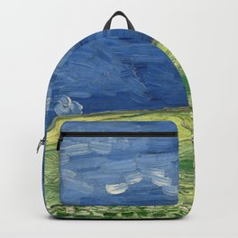 Vincent van Gogh - Wheatfield Under Thunderclouds Backpack
