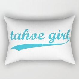 Tahoe Girl Co-ed Turquoise Rectangular Pillow