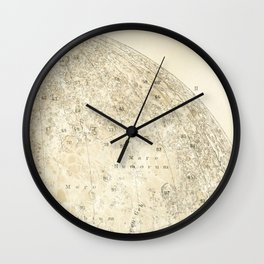 Antique Moon Map Wall Clock
