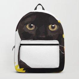 Sunflower Black Cat Backpack