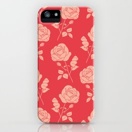 Romantic Pink on Red Roses iPhone Case
