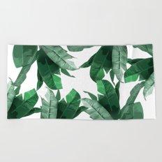 Tropical Palm Print Beach Towel