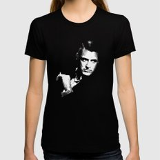 Cary Grant SMALL Black Womens Fitted Tee