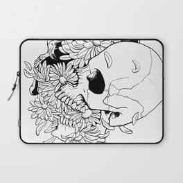 Skull (Pushing Up Daisies) Laptop Sleeve